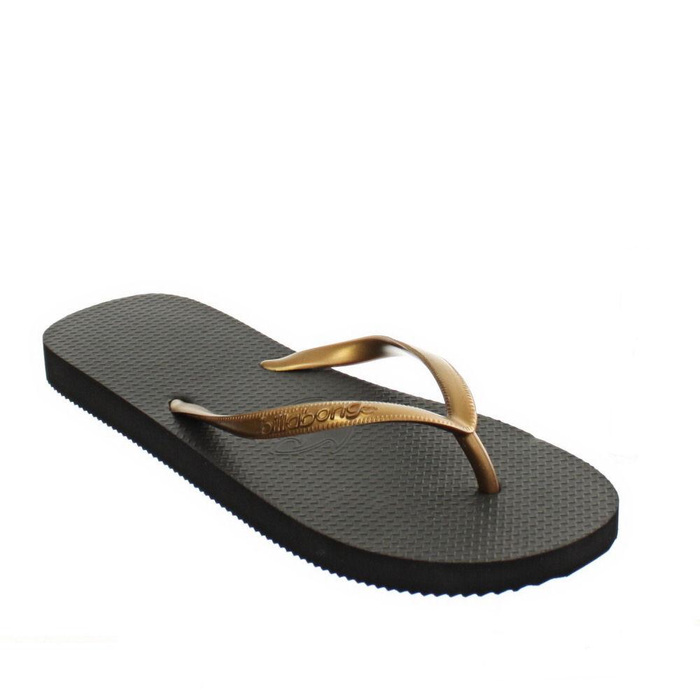 flip flops zehensandalen damen billabong all day gold schwarz strand gr 36 41