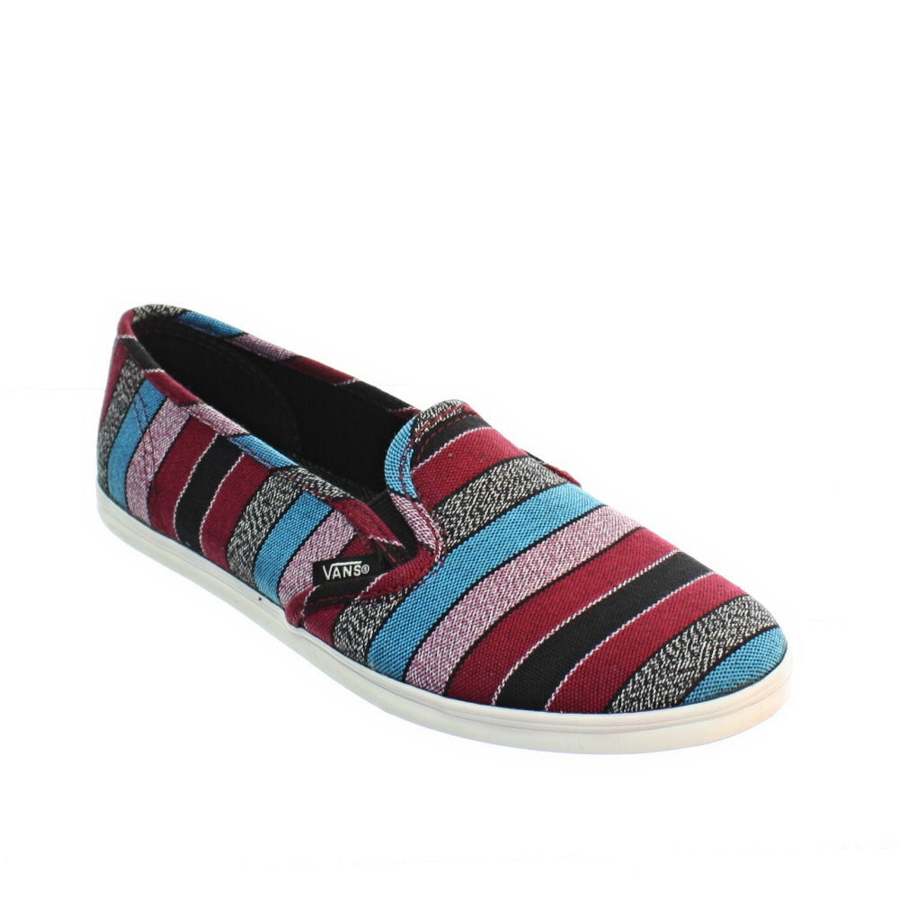 WOMENS-VANS-SLIP-ON-LO-PRO-GUATE-STRIPE-BLACK-PUMPS-SHOES-TRAINERS-SIZE-3-8