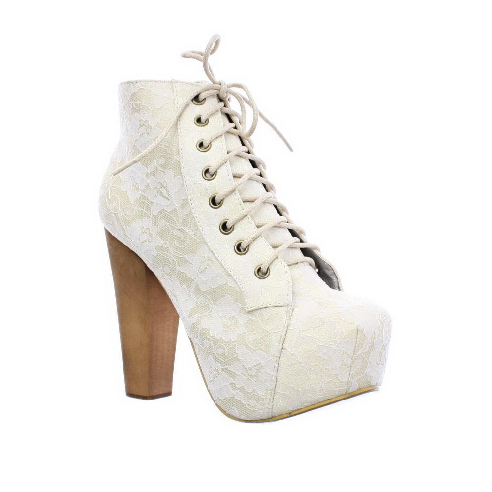 Simple Women White Plus Size Flat Elegant Floral Lace Shoes Woman Cut Outs Ballet Flats Round Toe Lace ...
