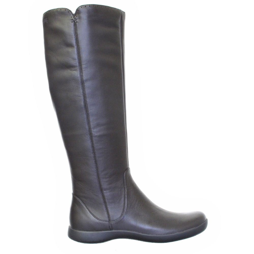 womens cer brown comet flat knee high leather
