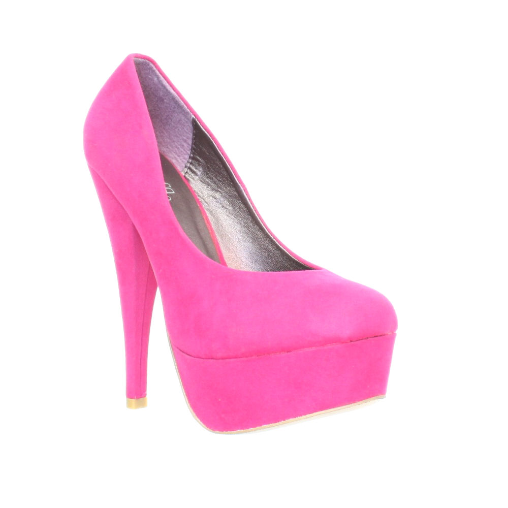 womens pink stiletto high heel platform court