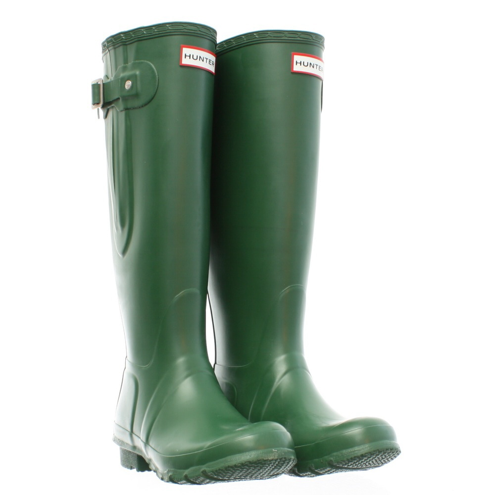 Womens Hunter Original Tall Adjustable Green Wellies