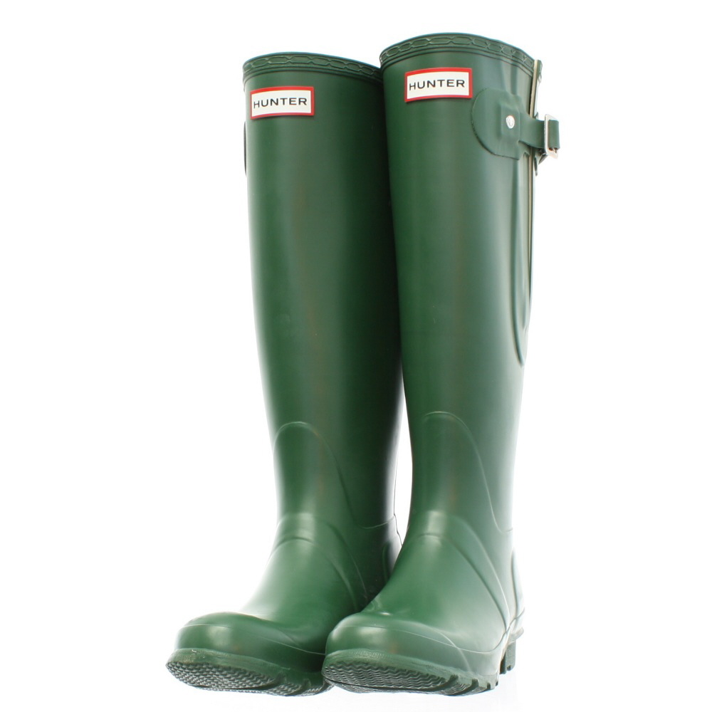 womens hunter original tall adjustable green wellies wellington boots size 3 12 ebay. Black Bedroom Furniture Sets. Home Design Ideas