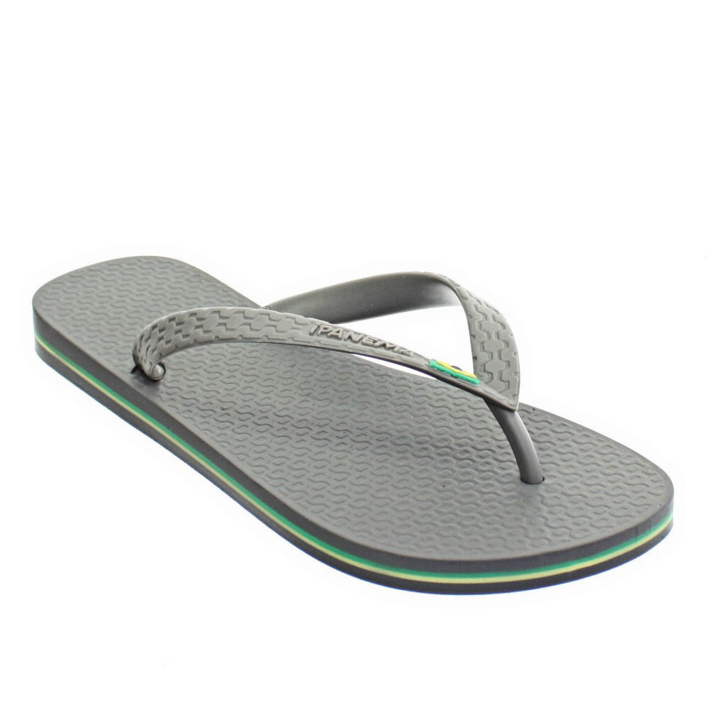 herren ipanema graue flagge brasilien strand sandalen flip flops 39 46 ebay. Black Bedroom Furniture Sets. Home Design Ideas