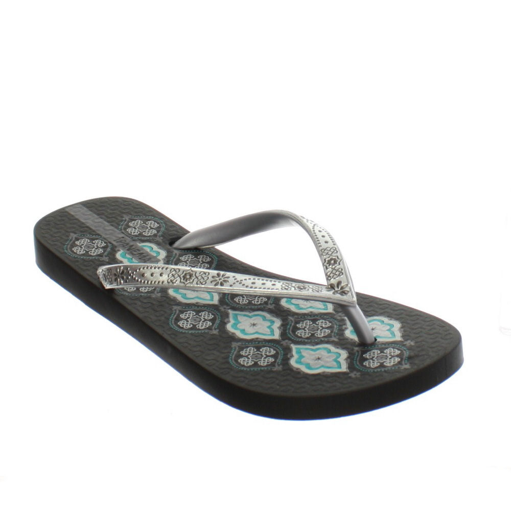 ipanema flip flops damen schwarz silber persisches muster. Black Bedroom Furniture Sets. Home Design Ideas