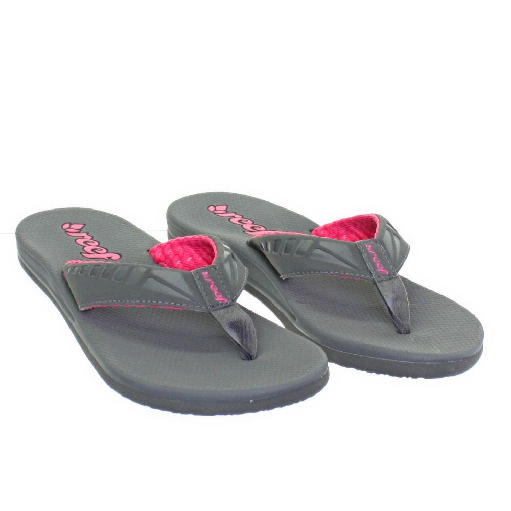 flip flops damen reef phantom grau und hot pink m dchen strand sandale gr 36 41 ebay. Black Bedroom Furniture Sets. Home Design Ideas