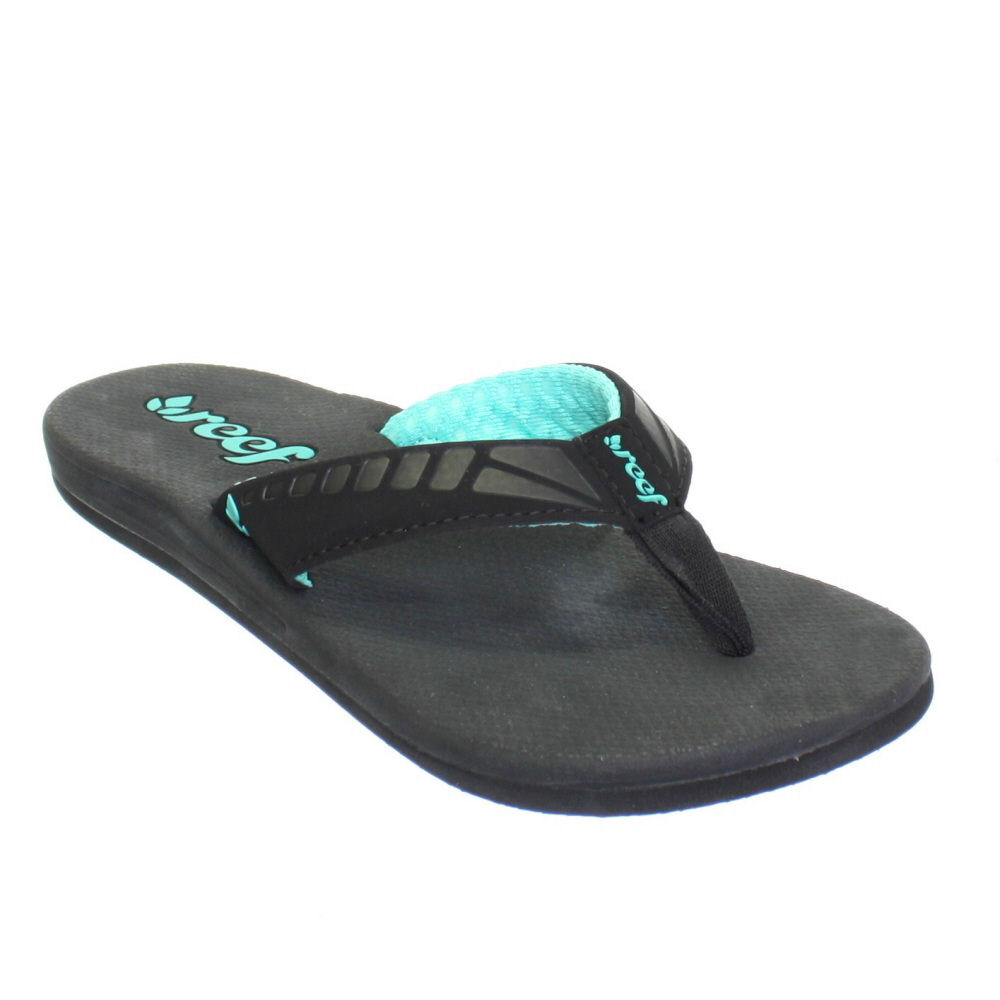 sandalen damen reef flip flops schwarz t rkis zehensteg strand meer eu 36 40 ebay. Black Bedroom Furniture Sets. Home Design Ideas