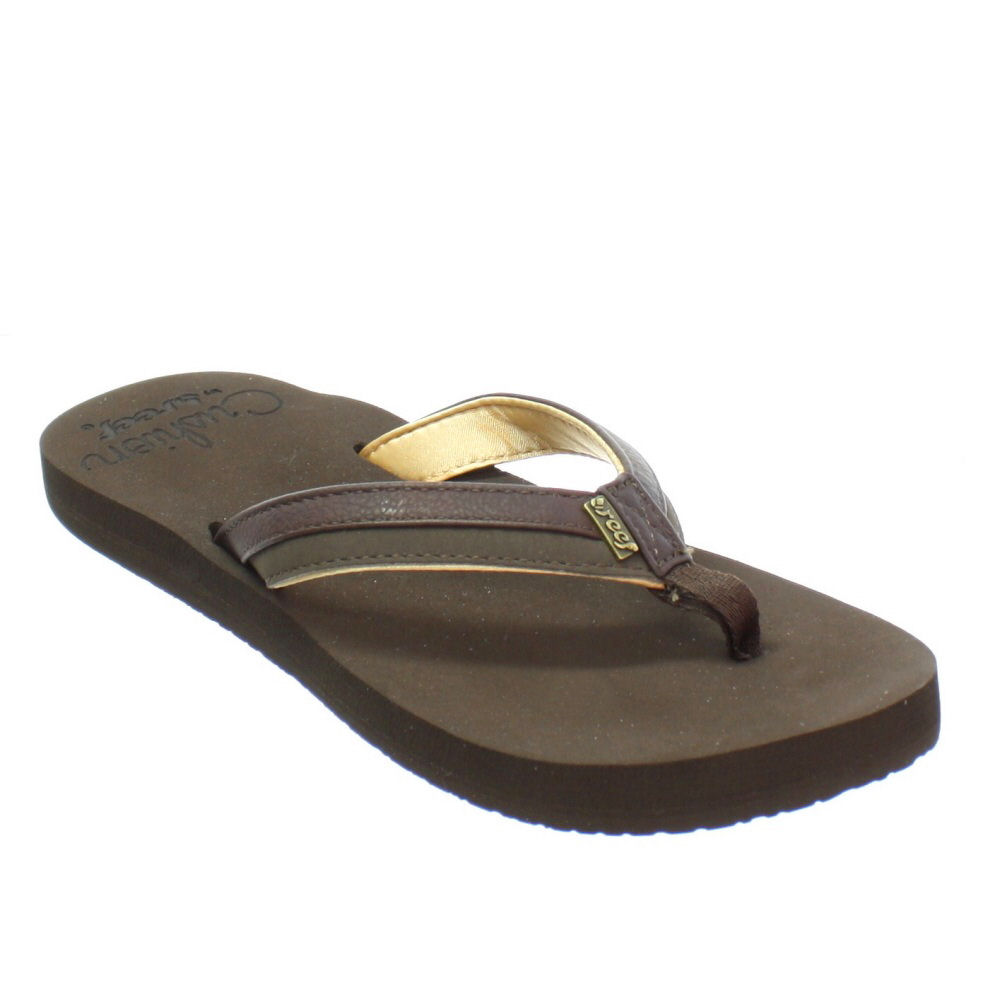 New Reef Fanning Womens Sandals Flip Flops - Brown Pink III | Footwear At Two Bare Feet ...