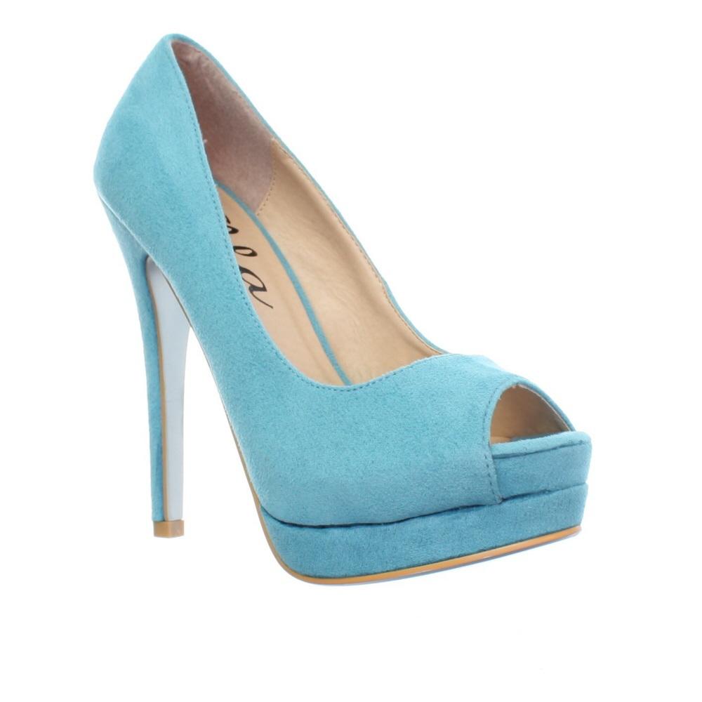 Aqua Blue High Heels