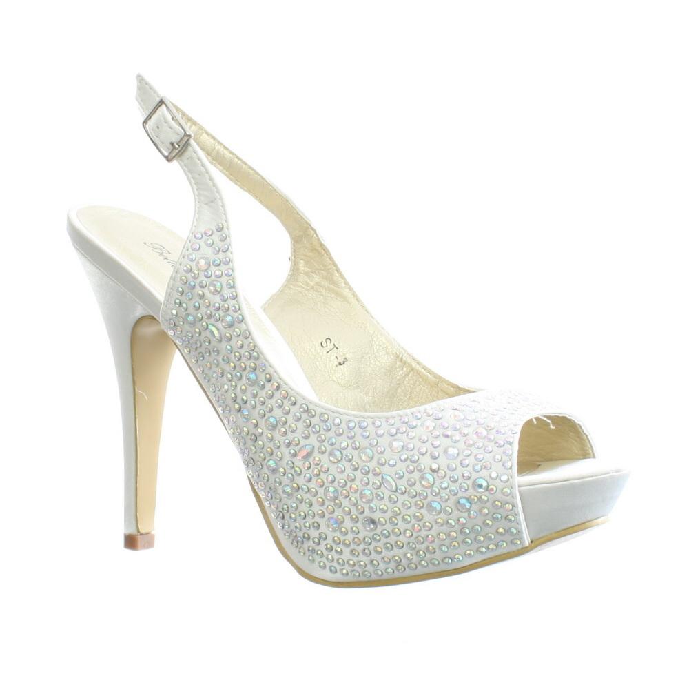 Ivory Satin Slingback Wedding Shoes