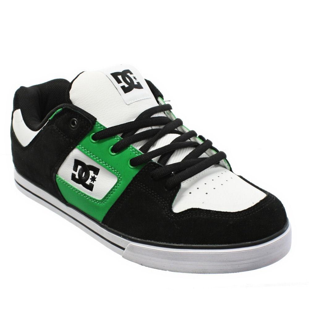 mens dc shoes pure slim white black green casual street. Black Bedroom Furniture Sets. Home Design Ideas