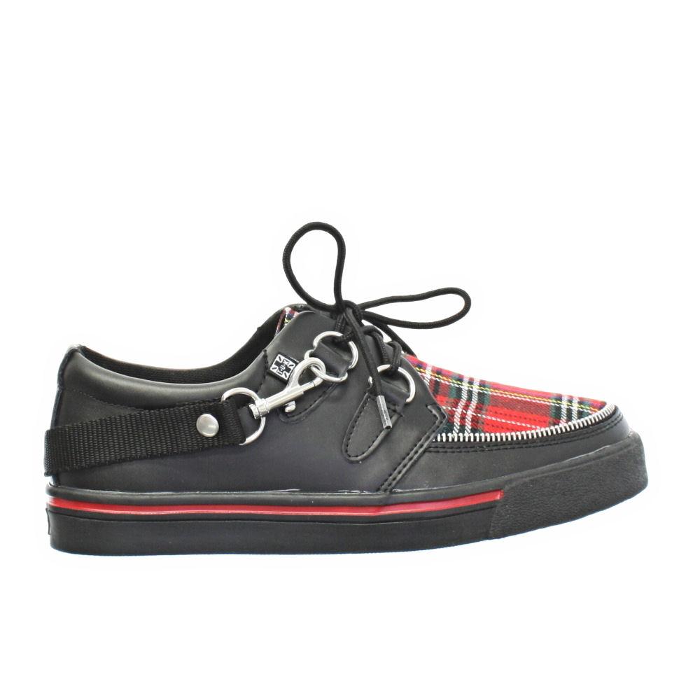 womens mens tuk shoes black tartan sneaker brothel