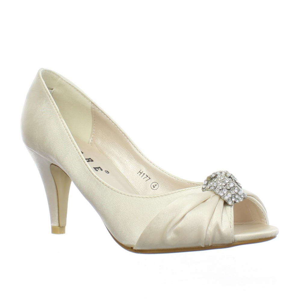 Low Heel Peep Toe Shoes Uk