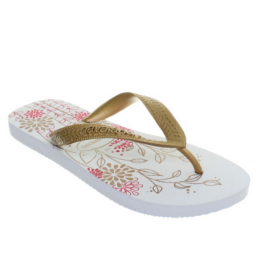 womens havaianas spring white silver ladies toe post flip. Black Bedroom Furniture Sets. Home Design Ideas