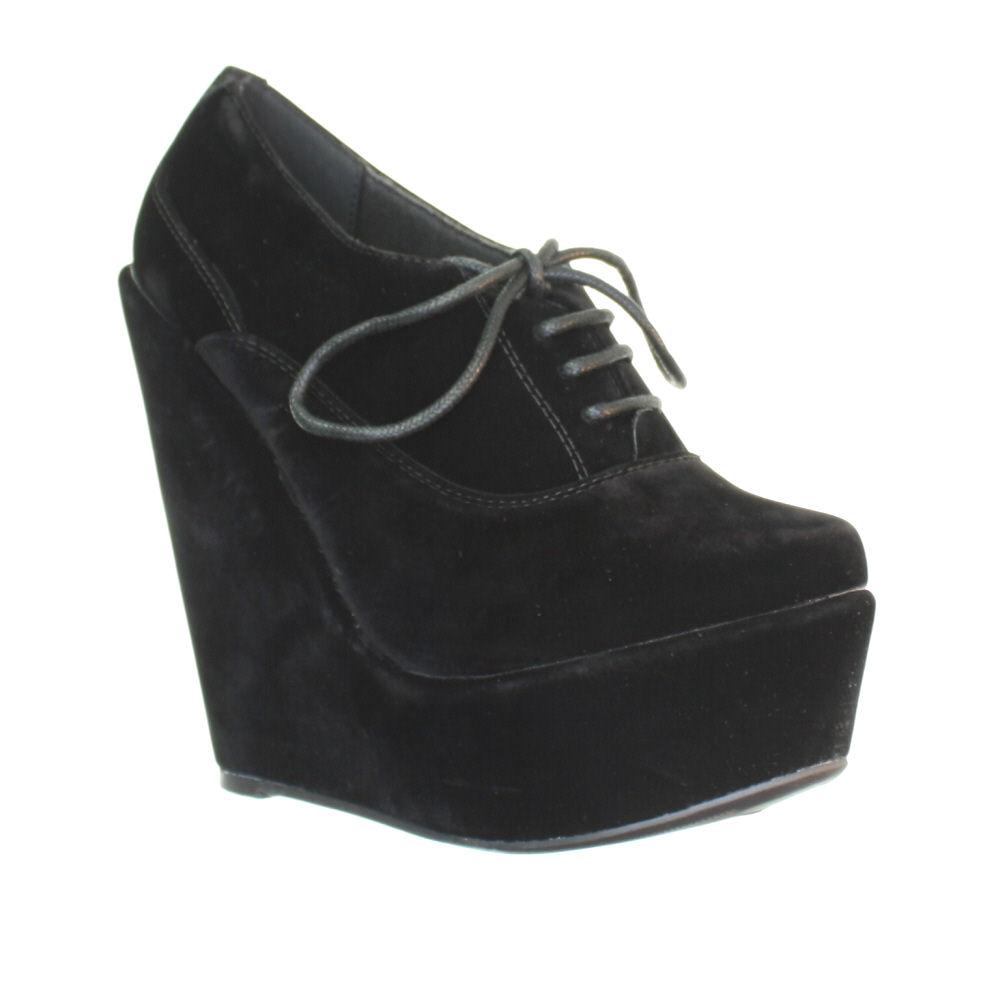 Platform Wedge Heel Low Cut Women Ankle Shoe Boots Size 5-10 | eBay