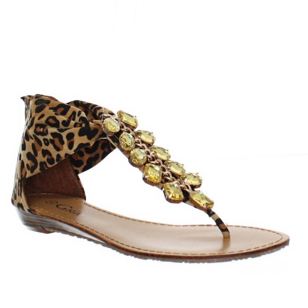 Cool Home Shoes Shop By Category Sandals Sarra Women Animal Print Leather