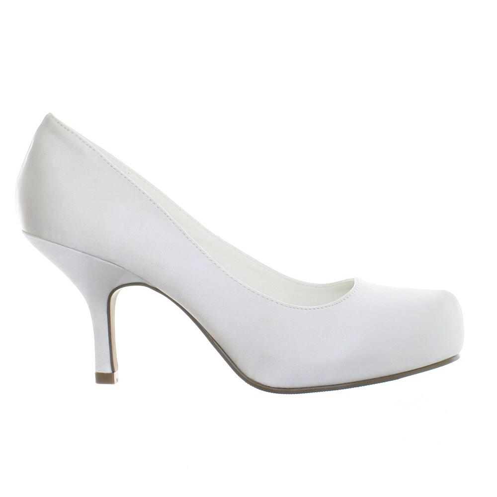 White Kitten Heels | Tsaa Heel
