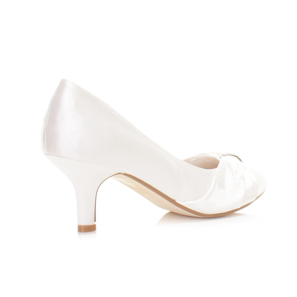 Kitten Heel Wedding Shoes - Wedding Shoes White