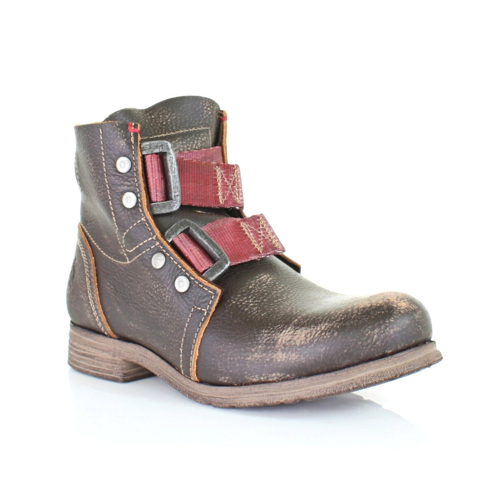womens fly ska brown distressed flat combat army