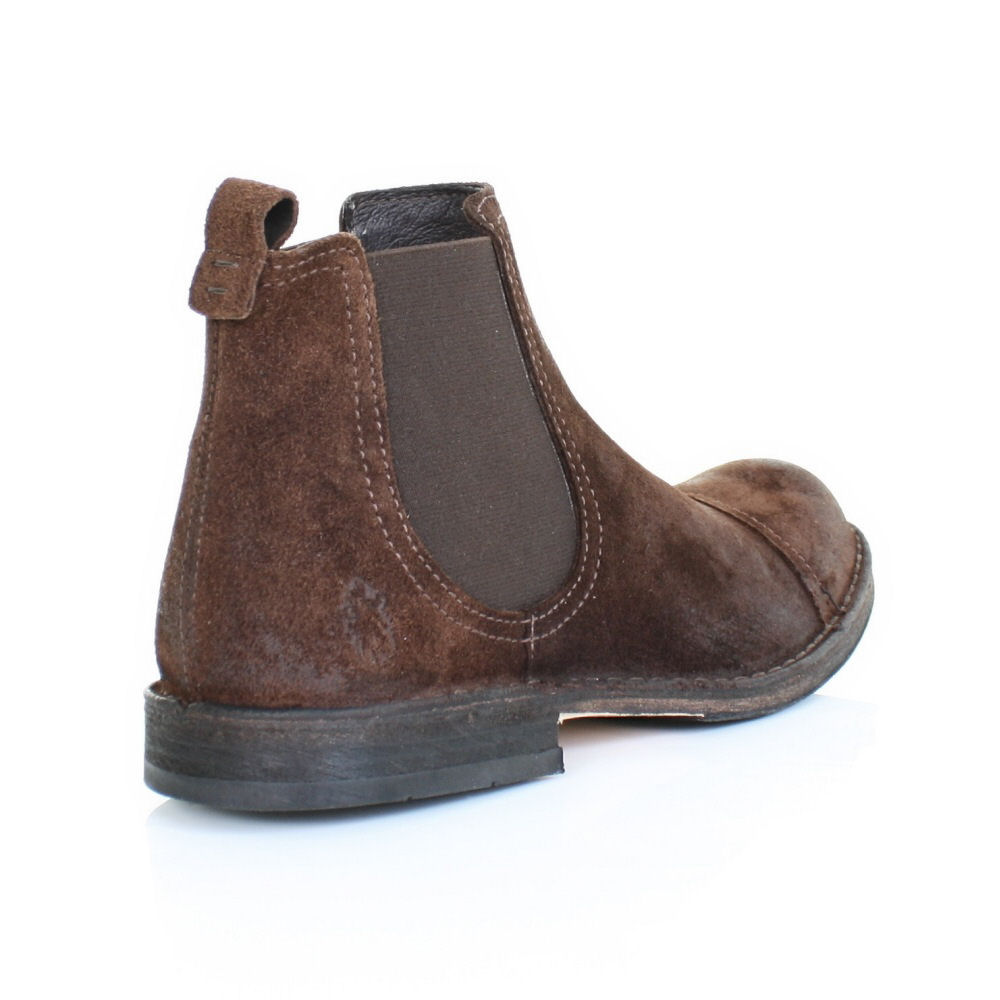 MENS FLY LONDON REMO BROWN SUEDE DISTRESS FINISH PULL ON CHELSEA ...