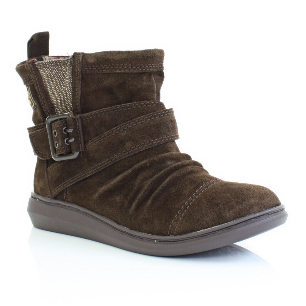 WOMENS ROCKET DOG MINT TRIBAL BROWN FLAT LADIES SUEDE ANKLE BOOTS ...