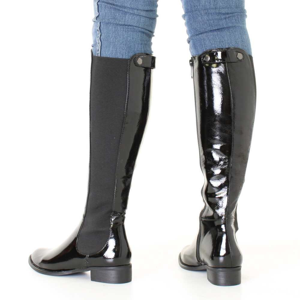Awesome  39Himena39 Patent Leather Chelsea Boot Womens Black Ombre Patent 65 M