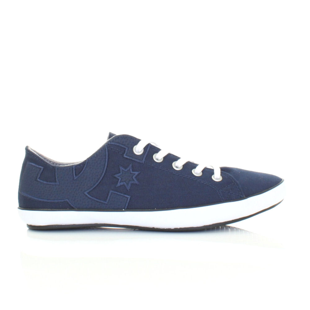 womens dc shoes cleo navy lace up flat casual pumps