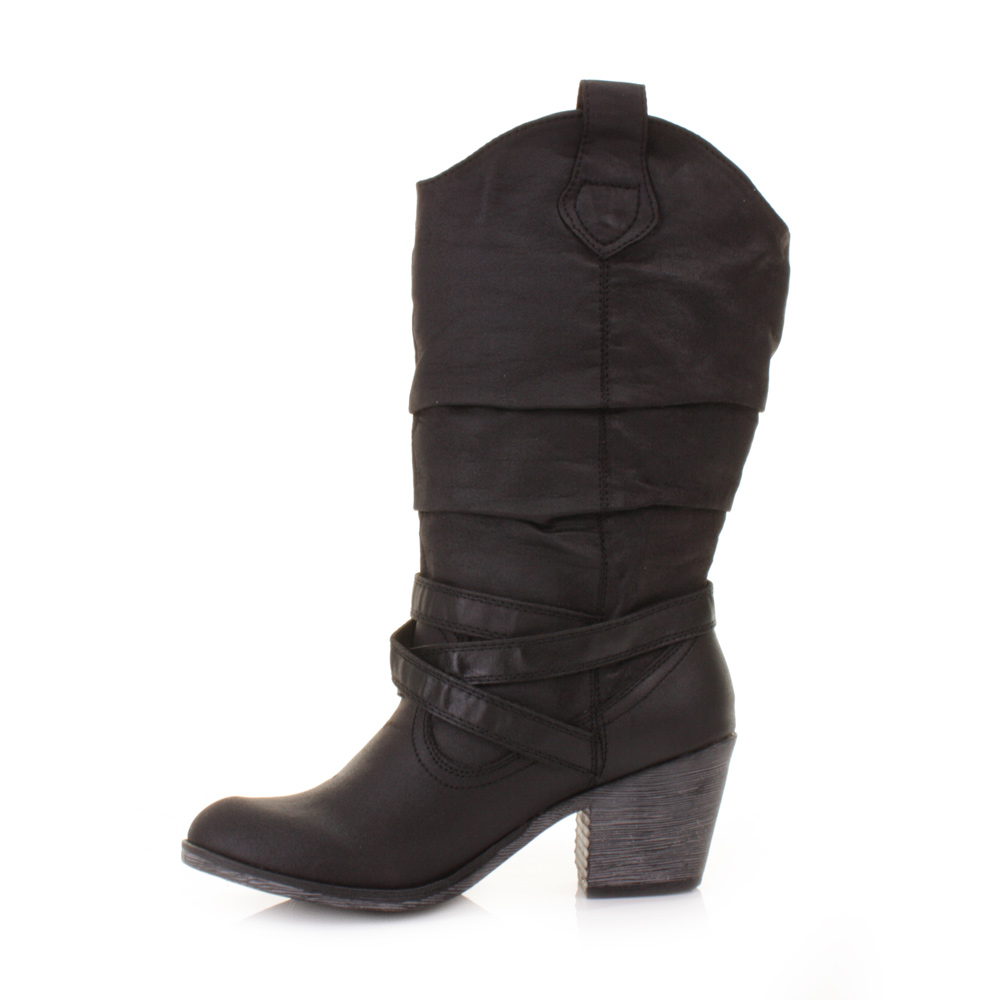 womens rocket black sidestep leather style slouch