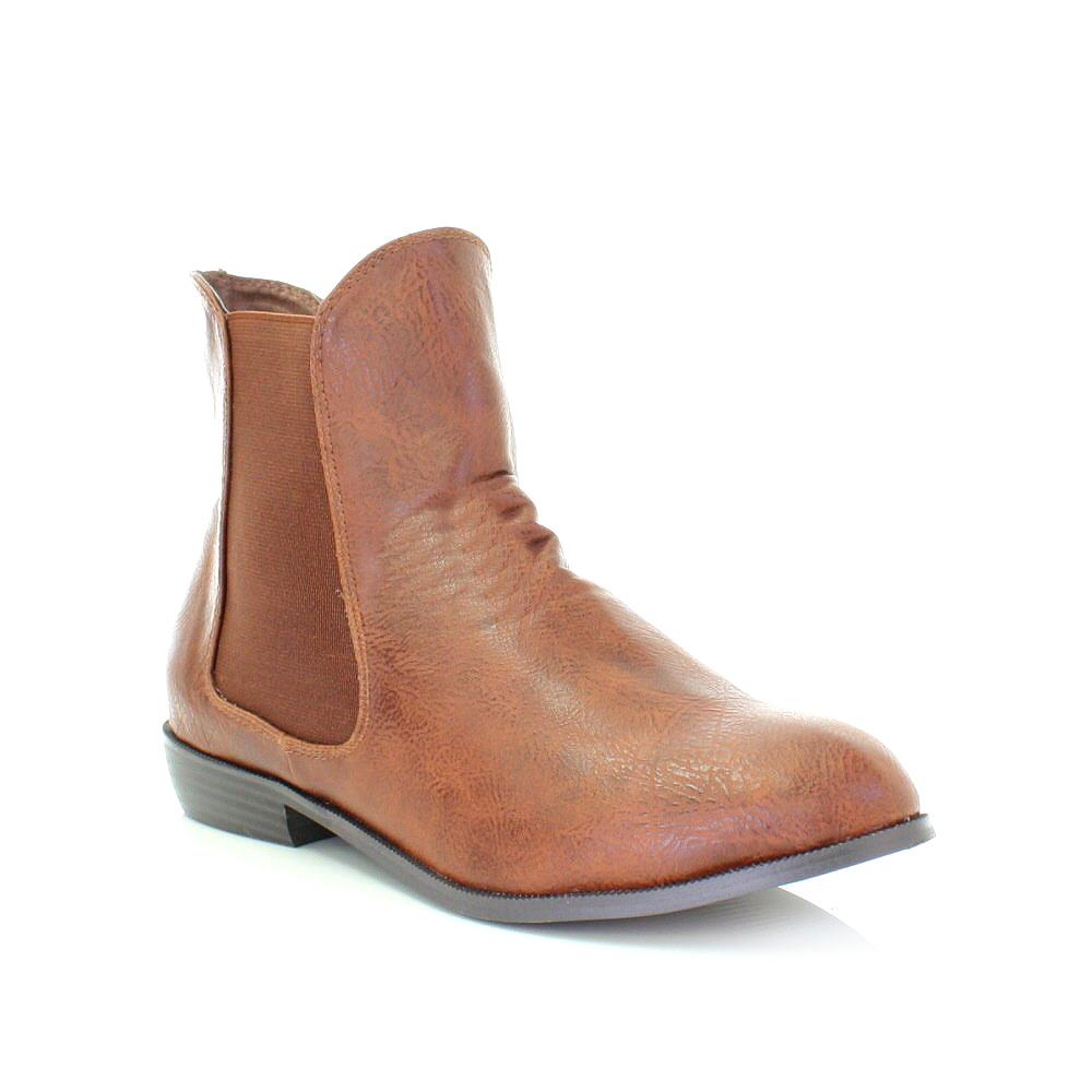 stiefelette damen zum berziehen leder stil flach chelsea ankle boots 36 41 ebay. Black Bedroom Furniture Sets. Home Design Ideas