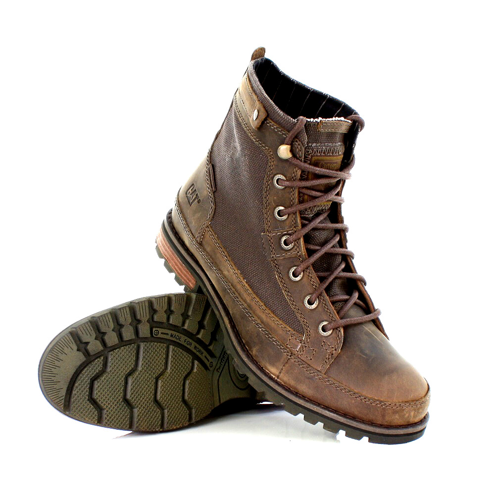 mens shoes caterpillar bryant dust brown leather distress