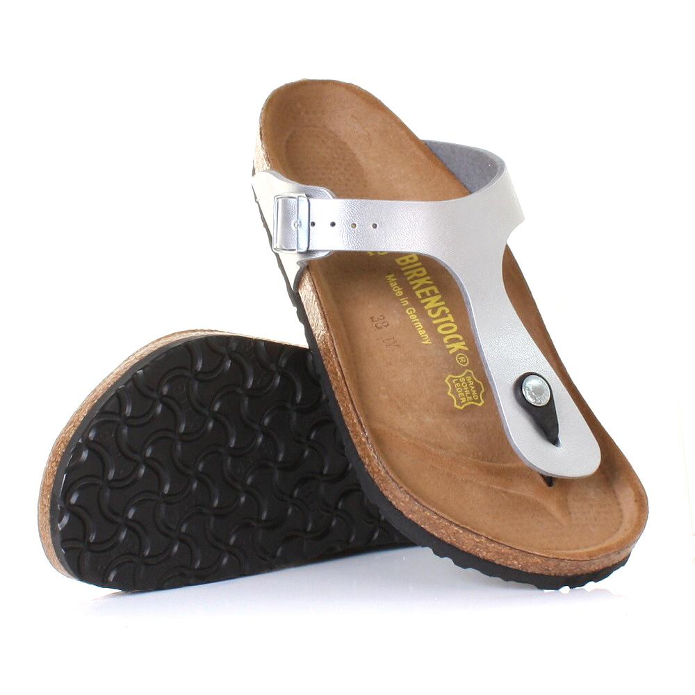 sandalen zehentrenner flipflops damen birkenstock silber. Black Bedroom Furniture Sets. Home Design Ideas