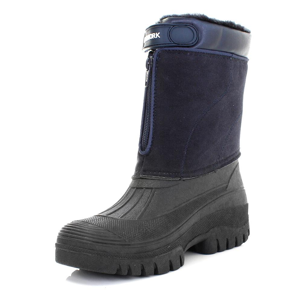 gummistiefel herren kn chelhoch winter boots warm marineblau wasserfest 40 46 ebay. Black Bedroom Furniture Sets. Home Design Ideas