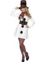 Ladies Sexy Miss Snowman Costume