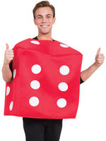 Adult's Red Dice Costume