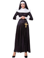 Ladies Deluxe Nun Costume
