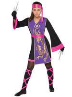 Girl's Sassy Samurai Costume