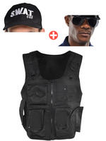 Adult's Swat Vest, Cap & Glasses
