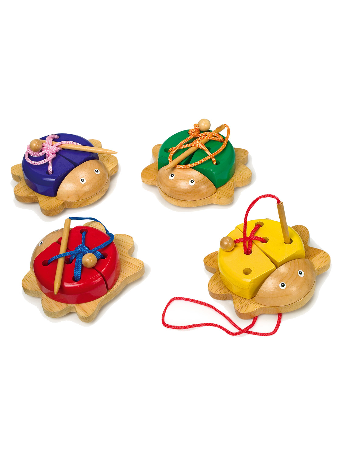 Wooden Threading Toy Educational Lacing Motor Skills ...