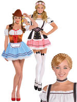 Ladies Oktoberfest Girl Costume & Wig