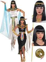 Ladies Queen Cleopatra Costume, Wig & Armband
