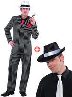 Mens Mob Boss Costume & Hat