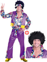 Mens 70S Groovy Guy Costume & Wig