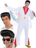 Mens Rock Star Costume & Wig