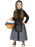 Girl's Back Red Riding Hood Costume