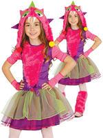 Girl's Pink Monster Costume