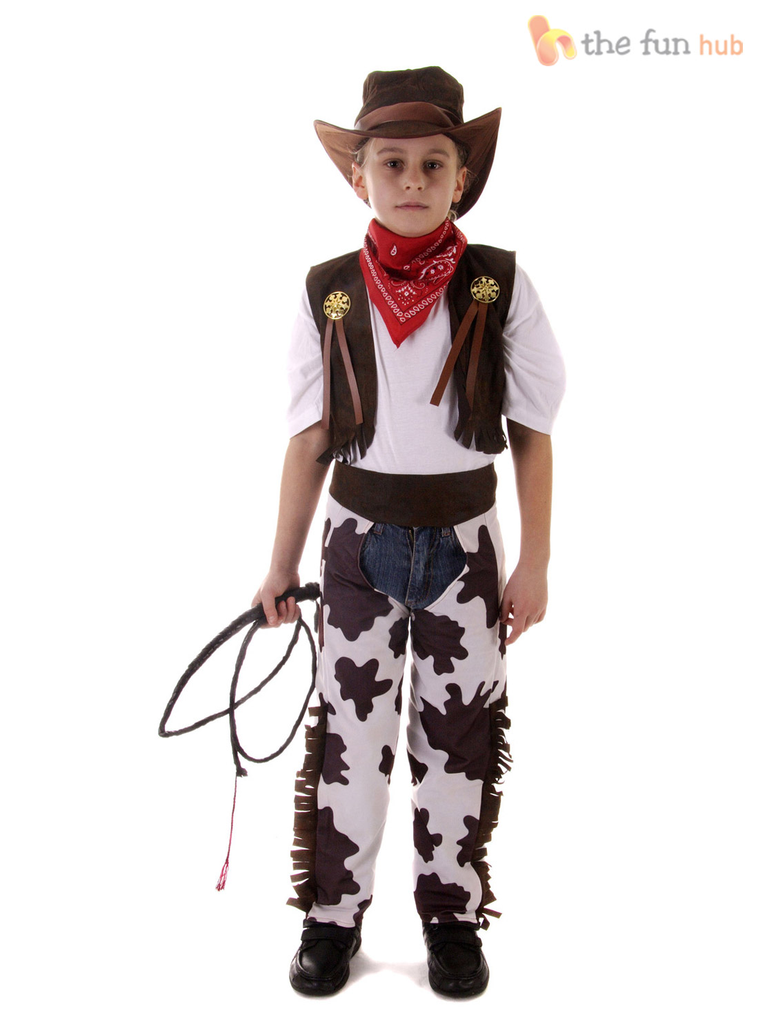 Boys-Kids-Cowboy-Outfit-Fancy-Dress-Costume-Rodeo-Wild-West-Age-3-4-5-6-7-8-9-10