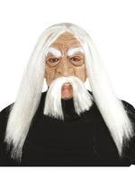 Adult's Pac Methuselah Mask with Hair