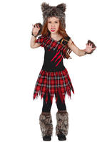 Girl's Scottish Wolf Costume