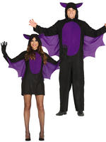Men's Bat Kid Costume - Ladies Bat Girl Costume