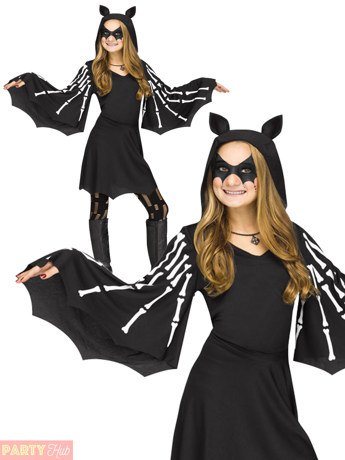 girls sweet bat costume child halloween fancy dress